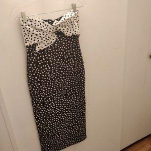 Topshop strapless body con dress